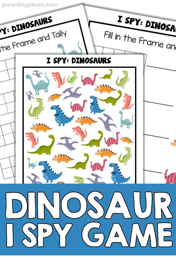 Dinosaur I Spy Printable Worksheets