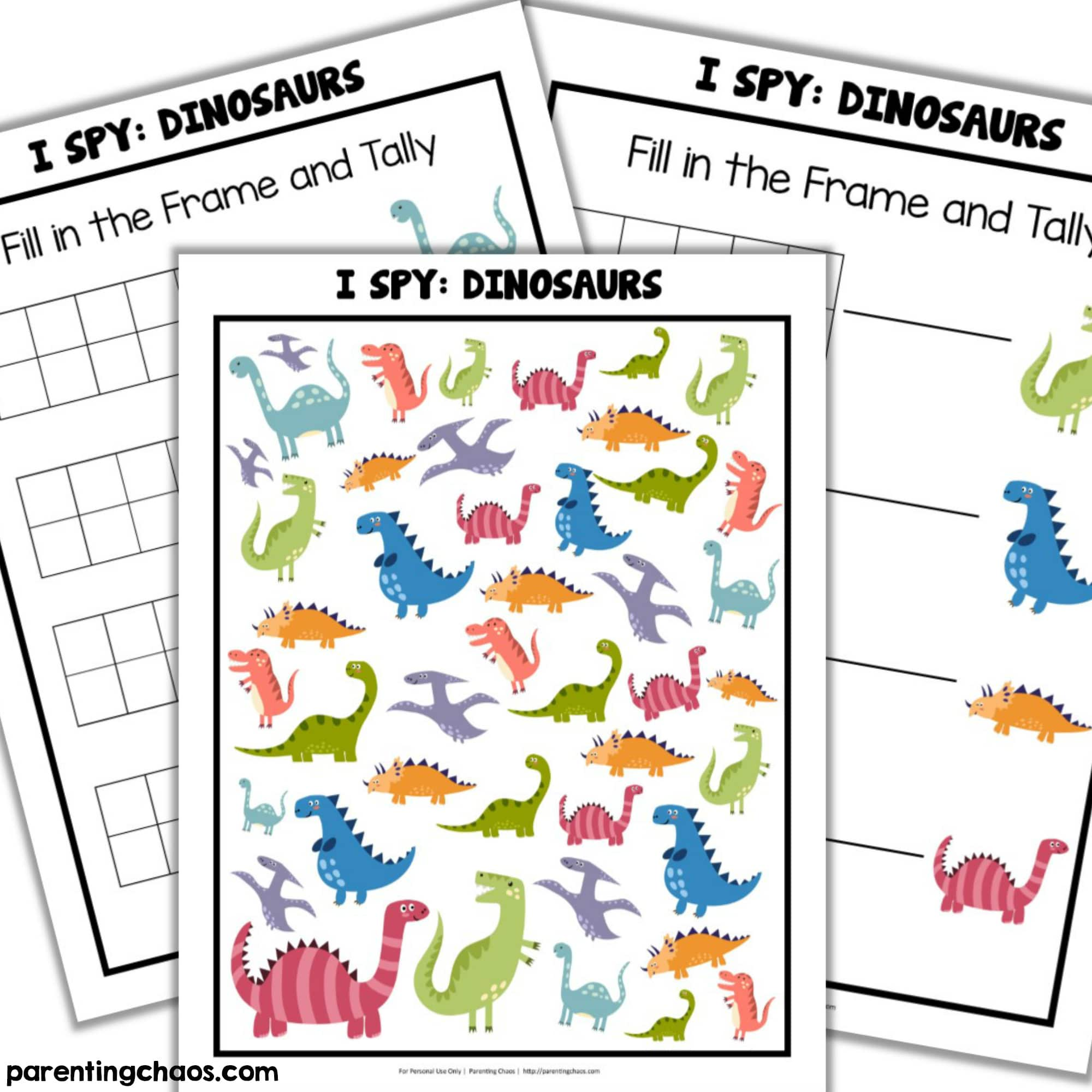 photograph regarding I Spy Printable titled Dinosaurs I Spy Printable ⋆ Parenting Chaos