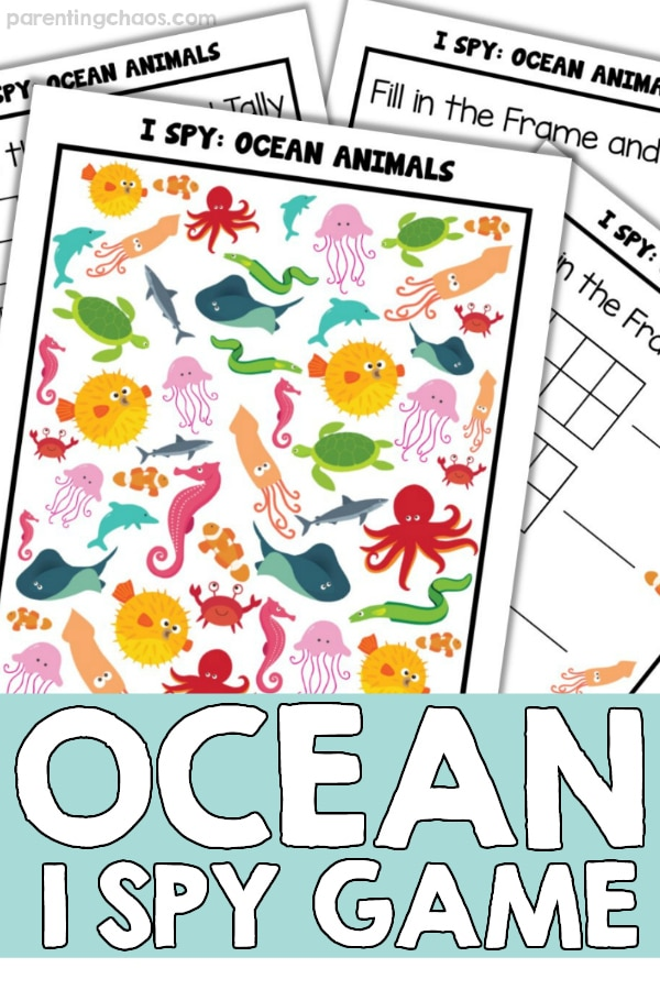 Ocean I Spy Printable Game