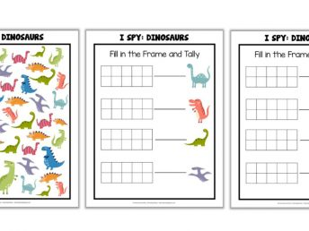 Dinosaur I Spy Printable Game