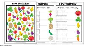 Vegetable I Spy Printable Game