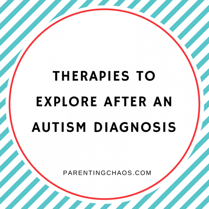 What Therapies to Look at After an Autism Diagnosis