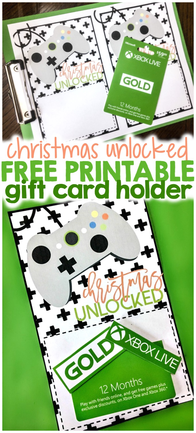 christmas unlocked printable xbox gift card holder if you do not want to purchase a gift card online this gift card is also