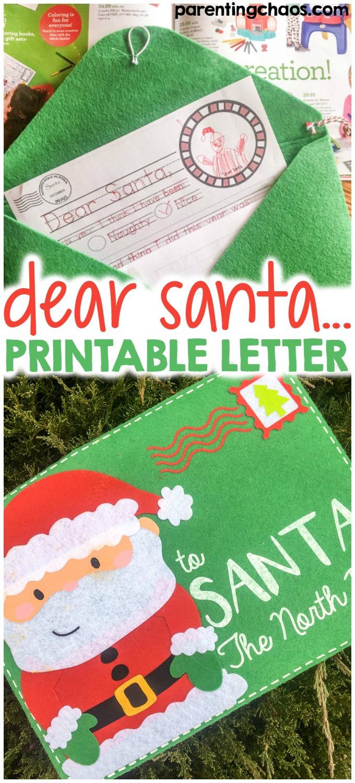 Dear Santa Letter Printable  Parenting Chaos