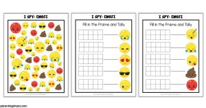 Emoji I Spy Printable Game