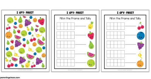 Fruit I Spy Printable Game