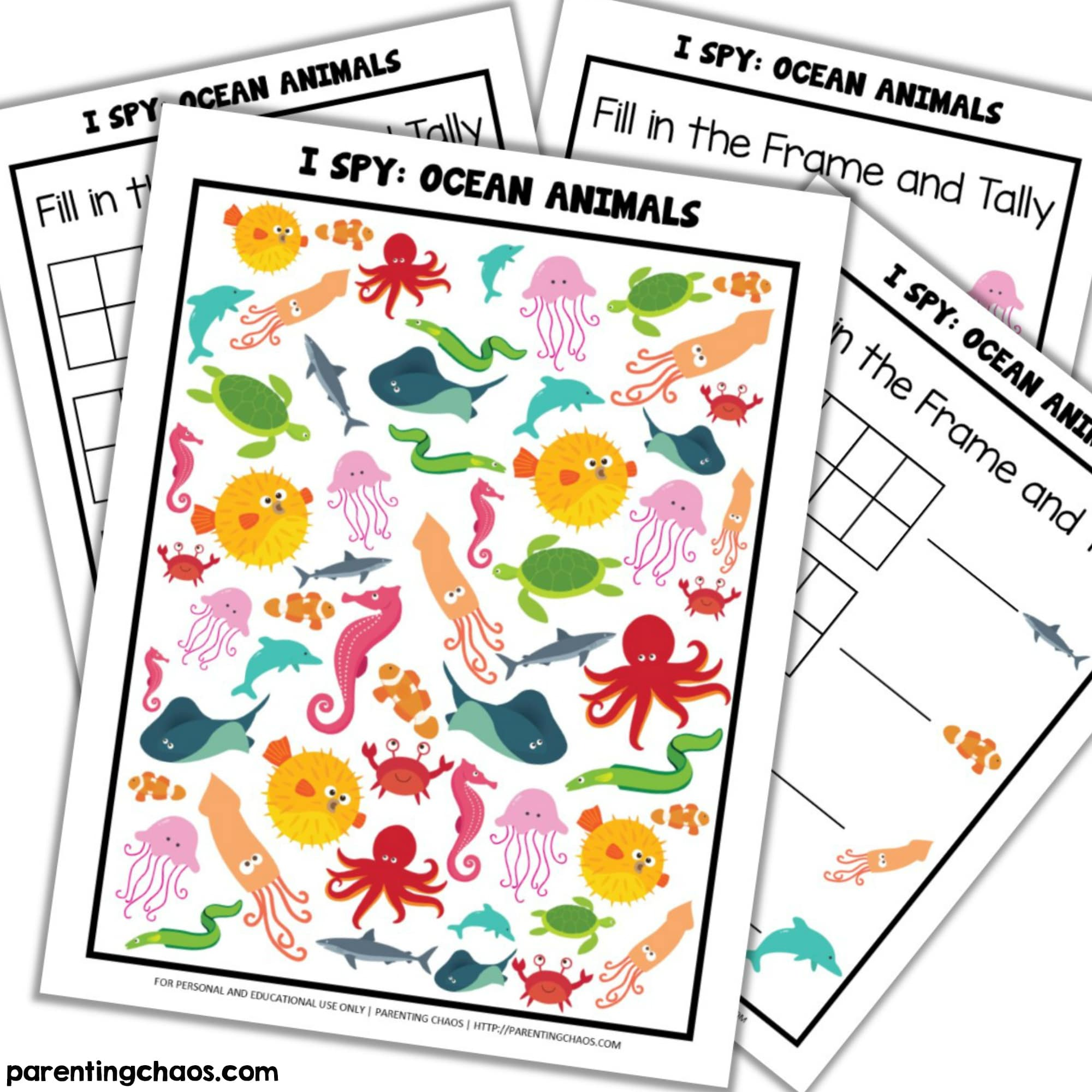 image about I Spy Printable identified as Ocean I Spy Printable ⋆ Parenting Chaos