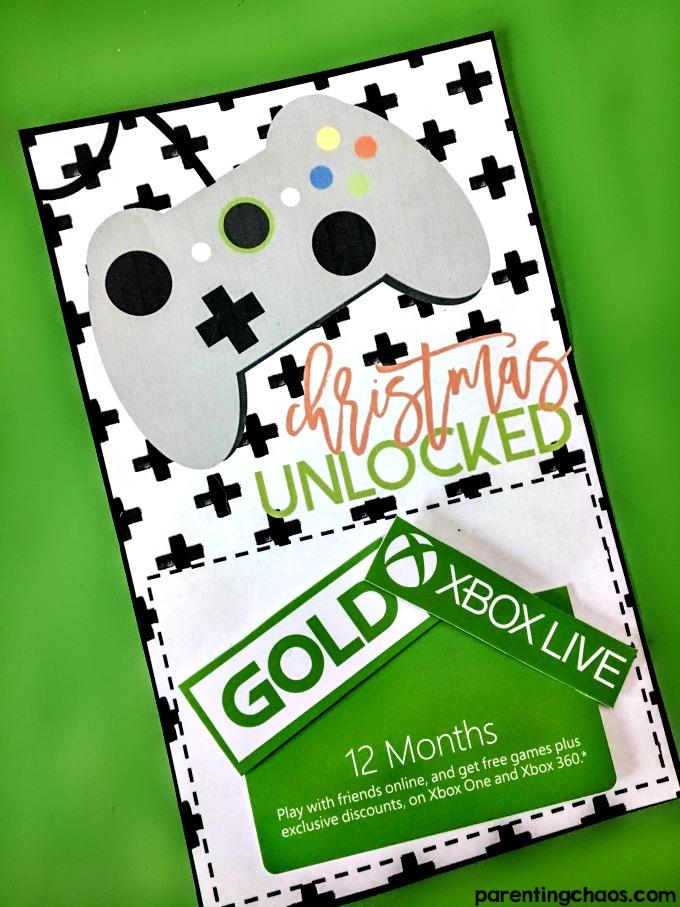 Christmas Unlocked Printable xBox Gift Card Holder ⋆ Parenting Chaos