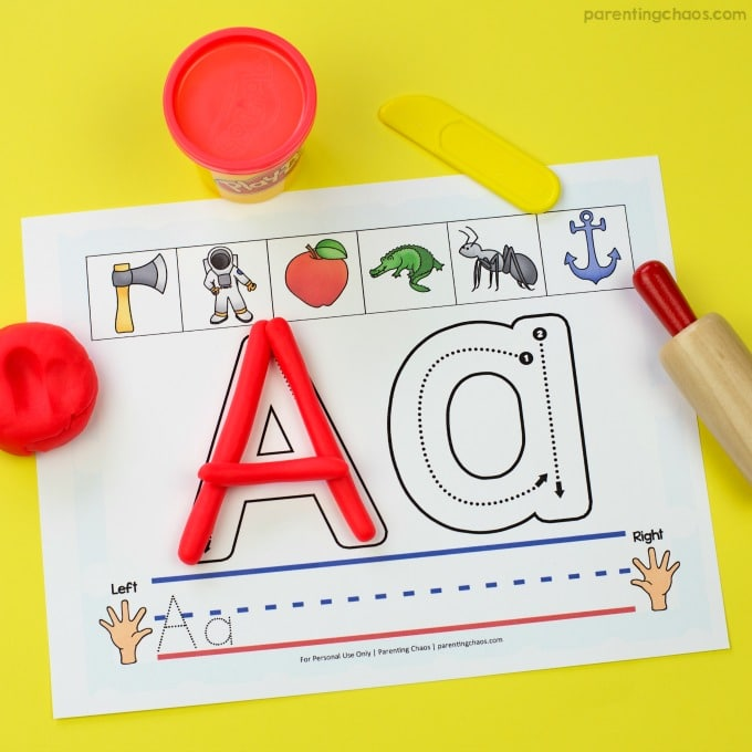 picture regarding Printable Floor Mats named Alphabet Enjoy Dough Mats (with Cost-free Printable Bundled)