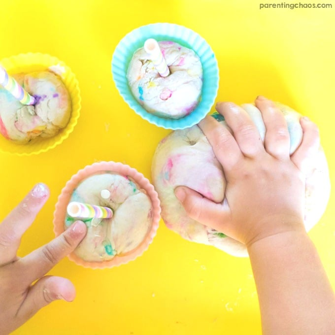 DIY Birthday Cake Play Dough Recipe