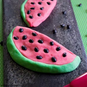 Homemade Watermelon Play Dough Recipe