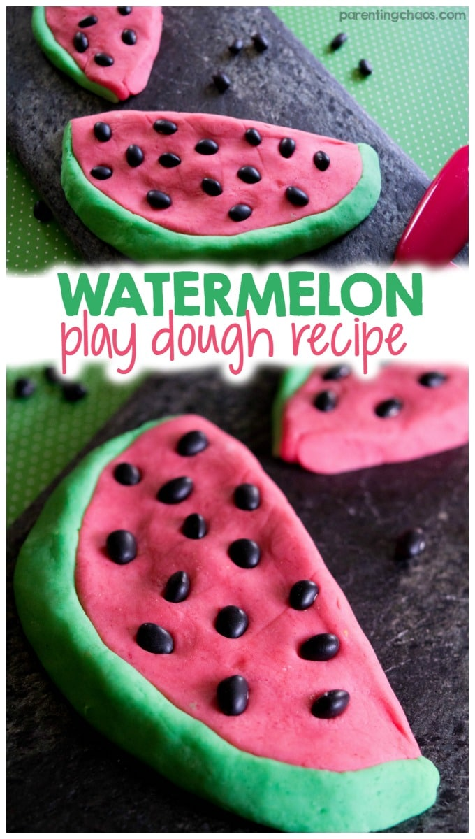 Homemade Watermelon Play Dough Recipe