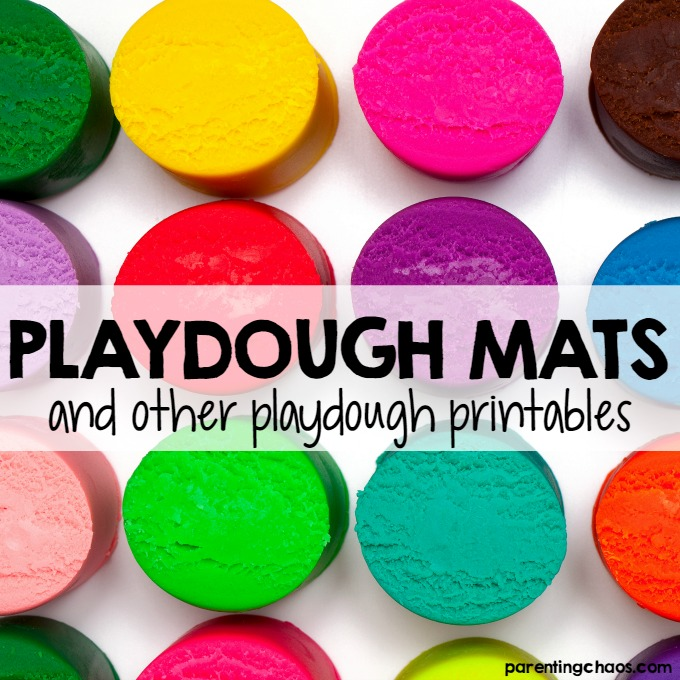 Playdough Mats and other Playdough Printables
