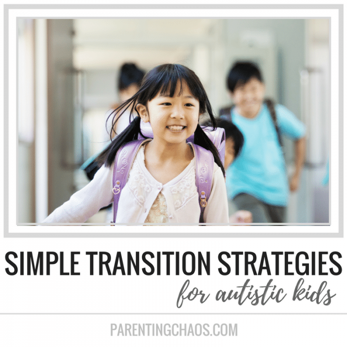Simple Transition Strategies for Autistic Kids