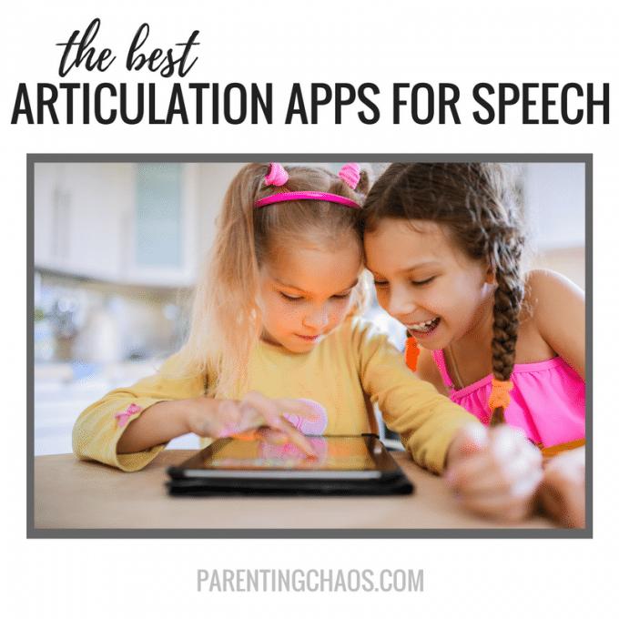 15 Articulation Apps for Speech