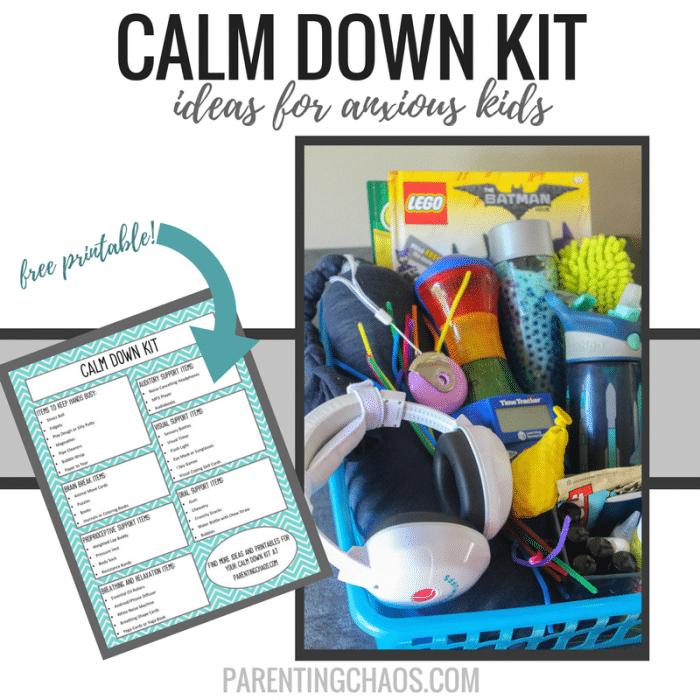 Calm Down Kit for Anxious Kids