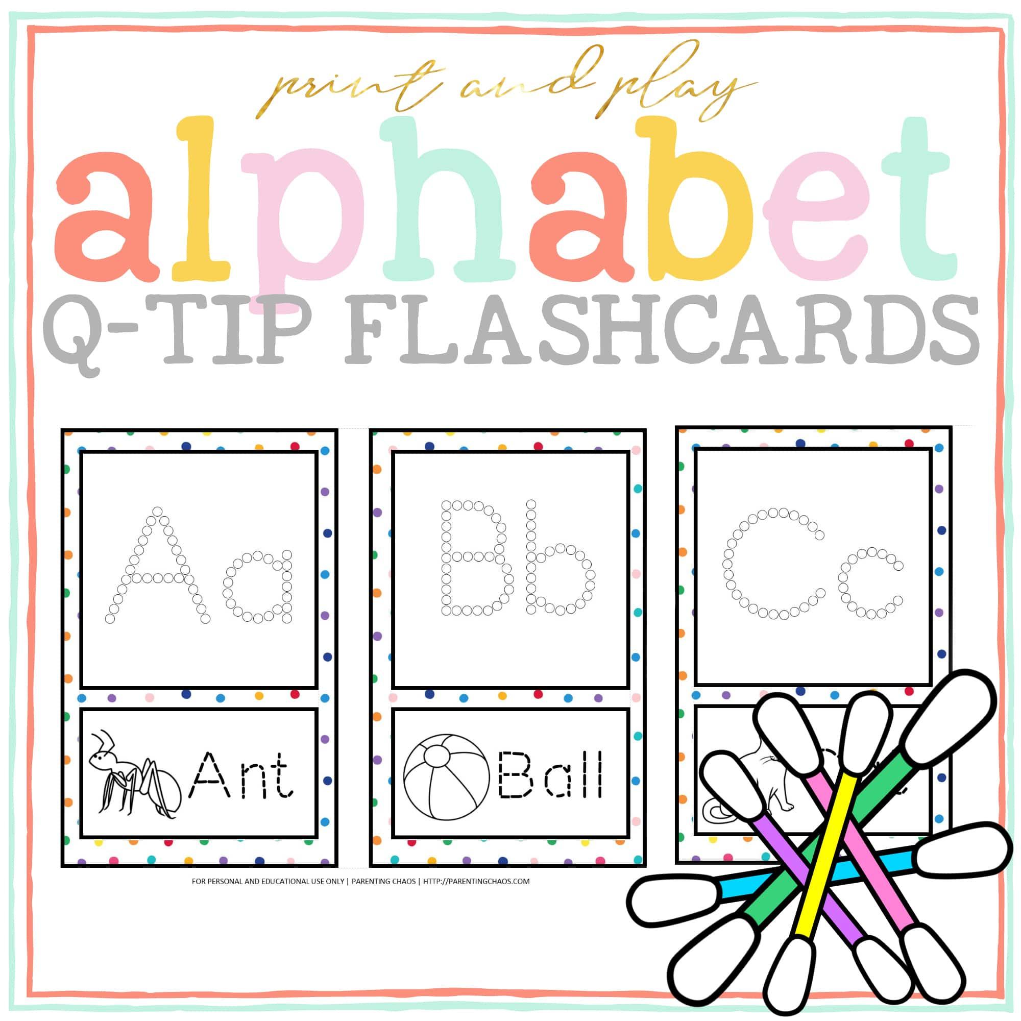 Alphabet Q-Tip Pages