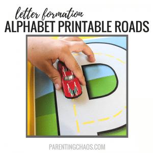 Printable Alphabet Roads