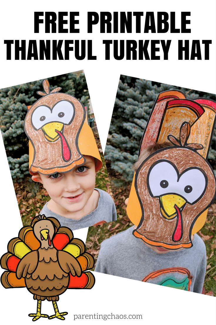 Free Thankful Turkey Thanksgiving Craft