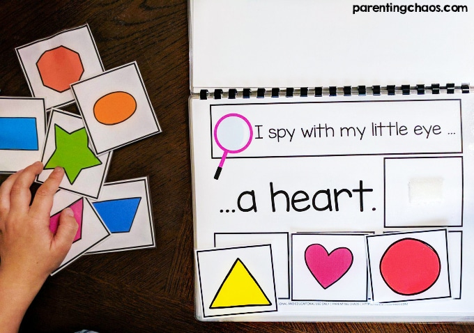 Adapted I Spy Shapes Book