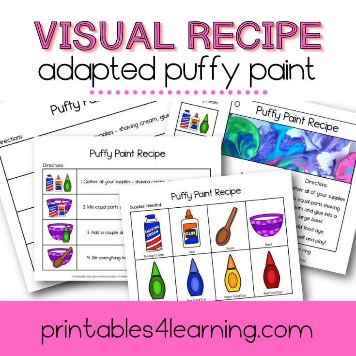Adapted Visual Recipe: Puffy Paint