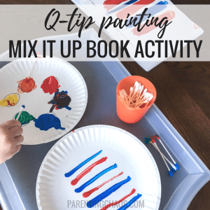 "Q-Tip Painting ""Mix It Up"" Book Activity"