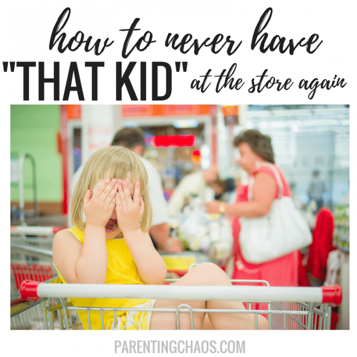 """How to NEVER Have """"That Kid"""" in the Grocery Store Again"""