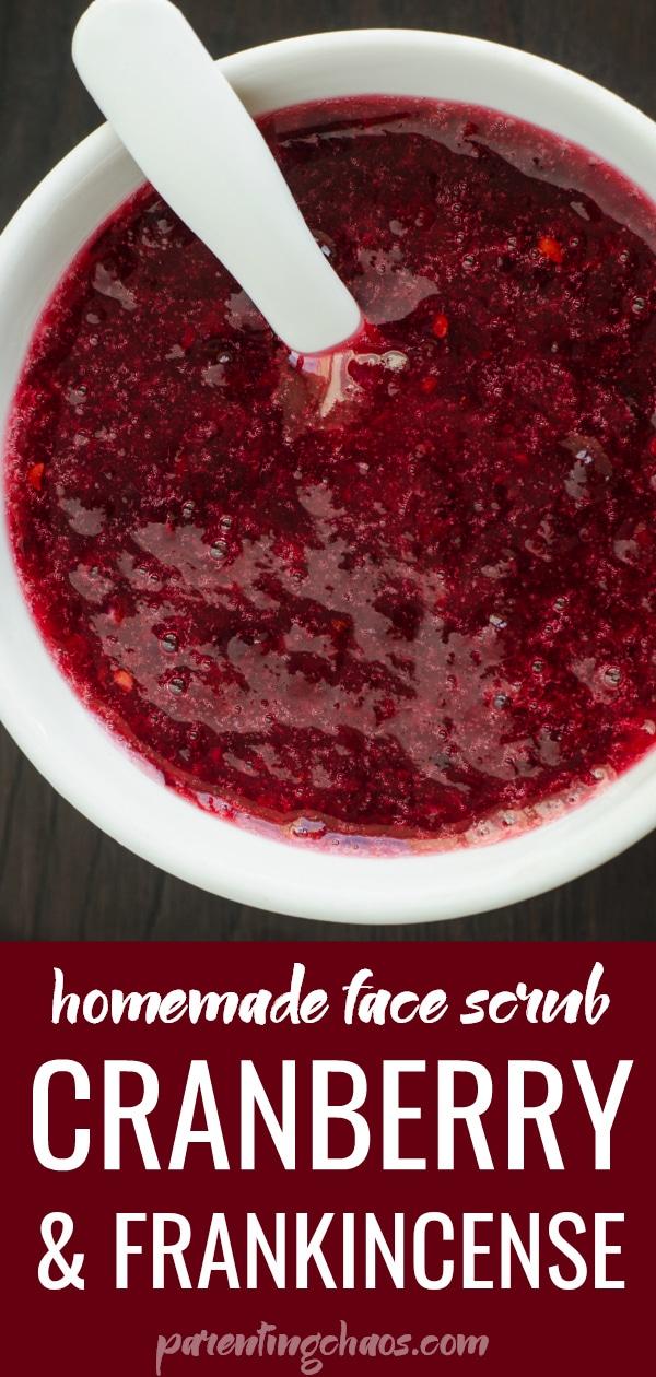DIY Cranberry Frankincense Facial Scrub