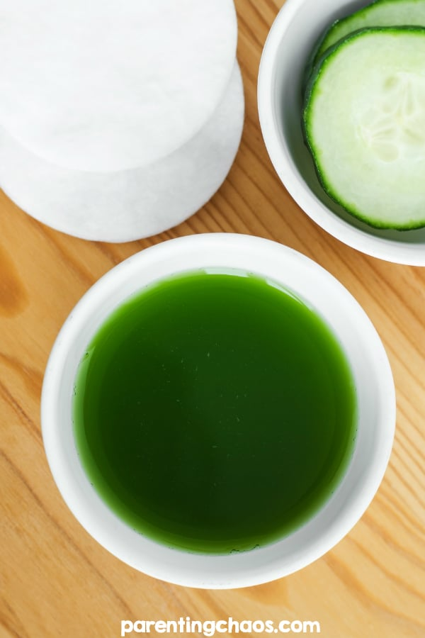 Homemade Cucumber Basil Face Toner