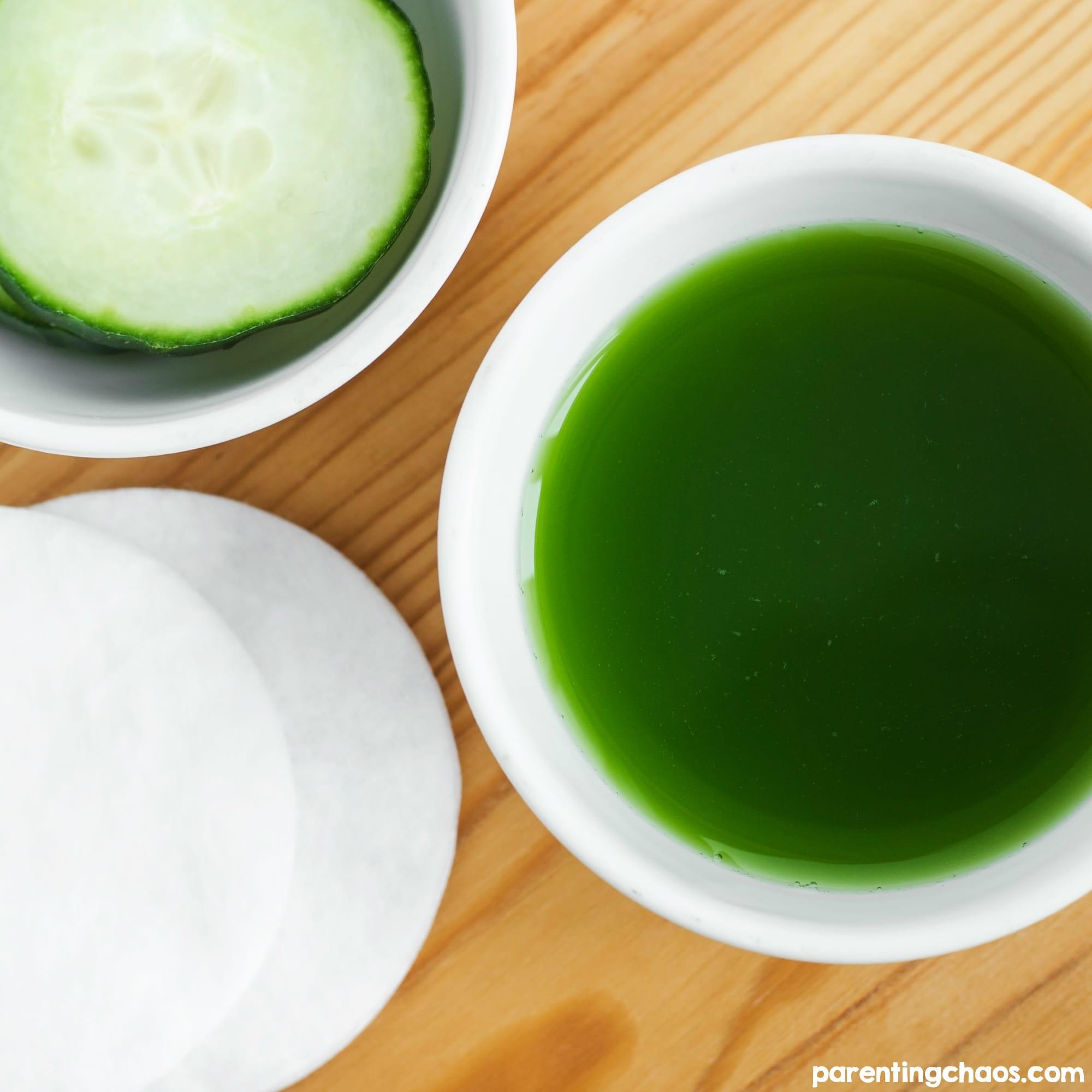 DIY Cucumber Basil Face Toner