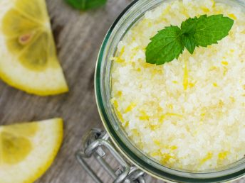 DIY Lemon and Mint Bath Salts