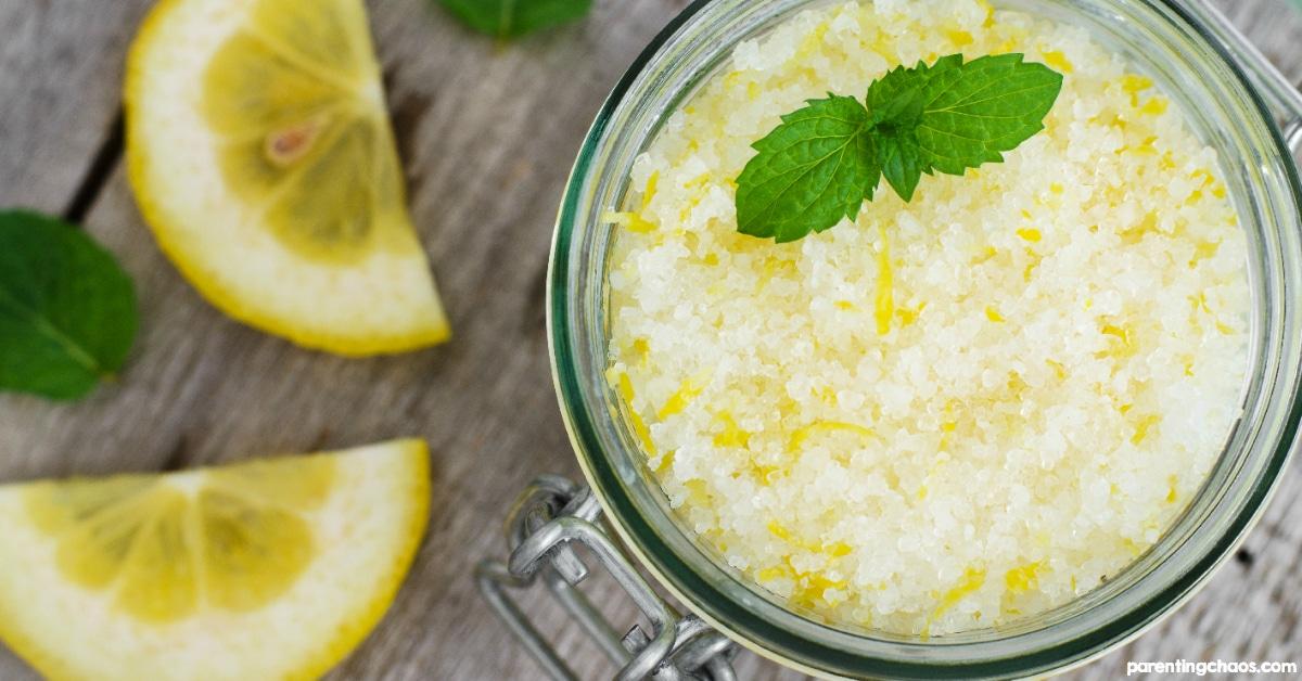 DIY Lemon and Mint Bath Salts