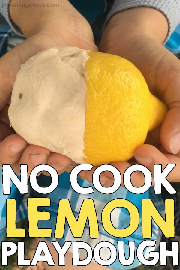 DIY no cook lemon playdough