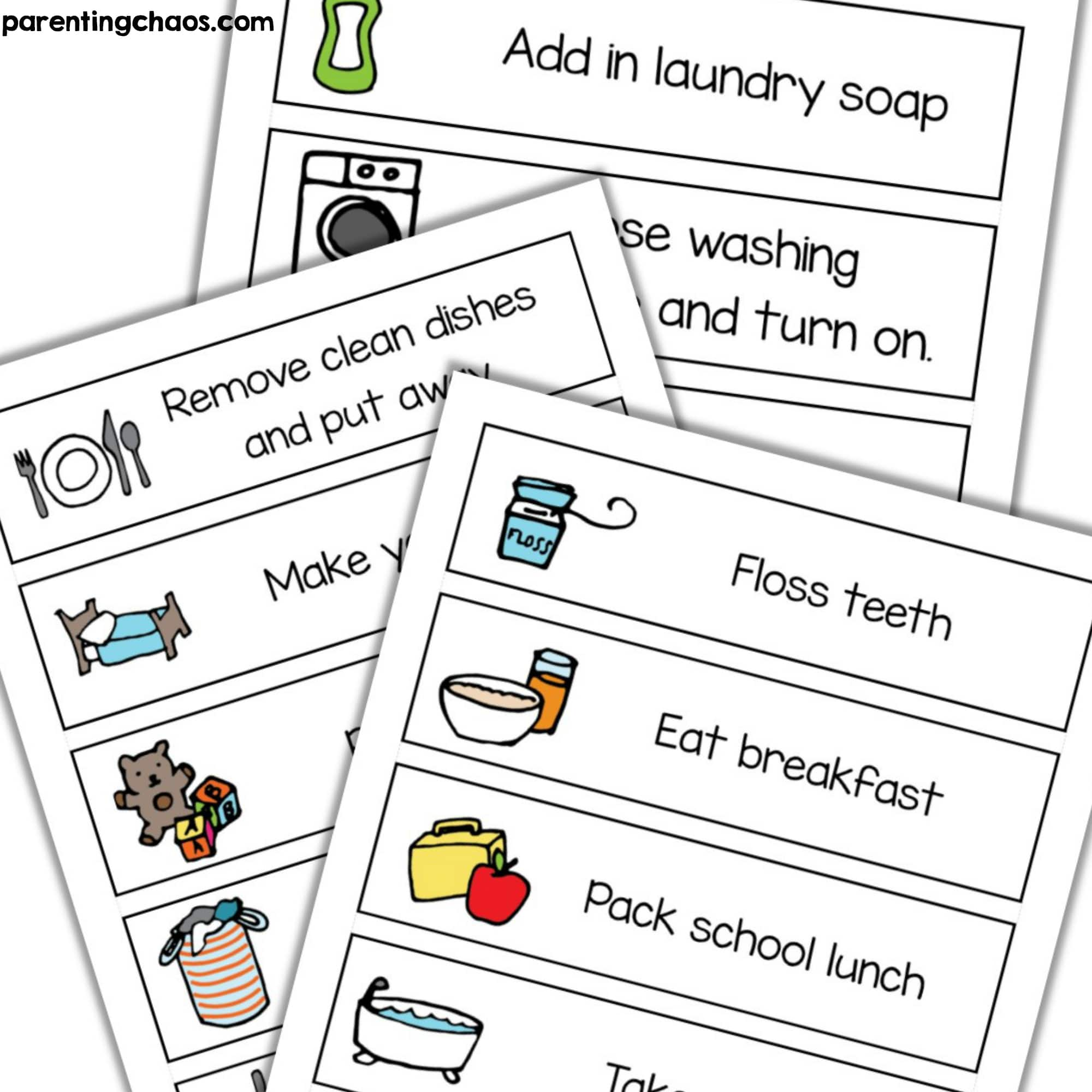 photograph about Free Printable Chore Cards identified as Visible Job Chore Playing cards Printable ⋆ Parenting Chaos