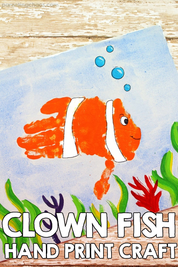 Clown Fish Hand Print Craft For Kids Parenting Chaos