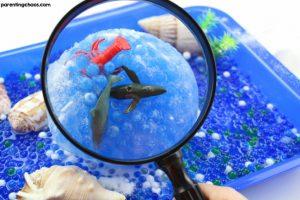 Frozen Ocean Sensory Bin