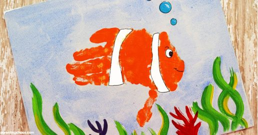 Clown Fish Hand Print Craft for Kids