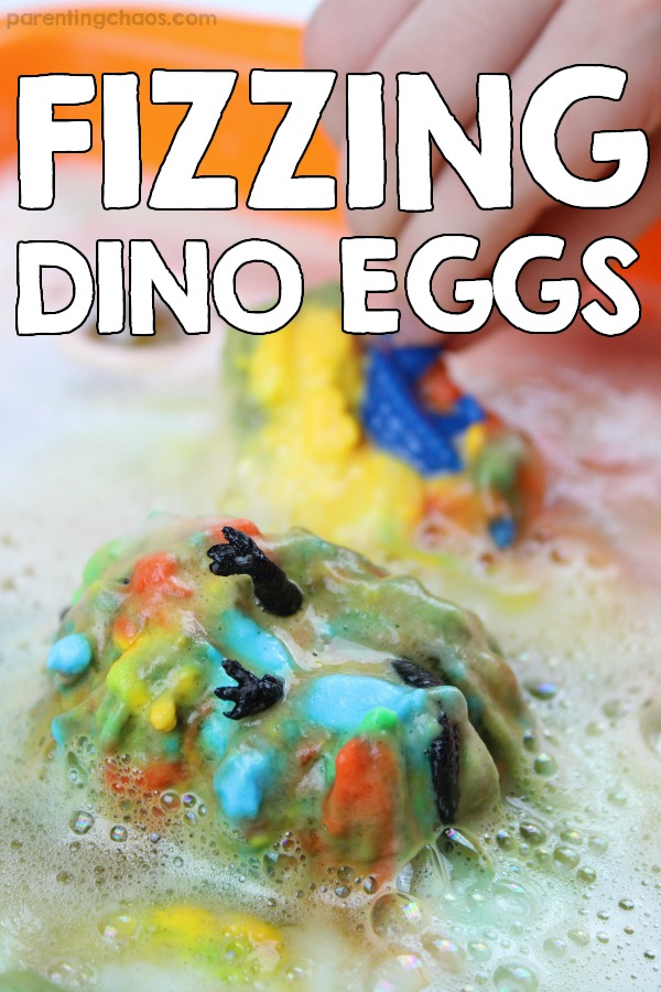 Hatching Fizzy Dinosaur Eggs