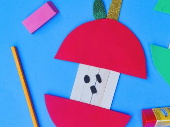 Popsicle Stick Apple Core Craft