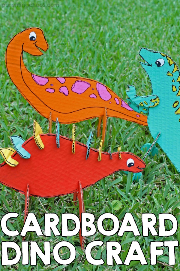 Cardboard Dinosaur Craft for Kids
