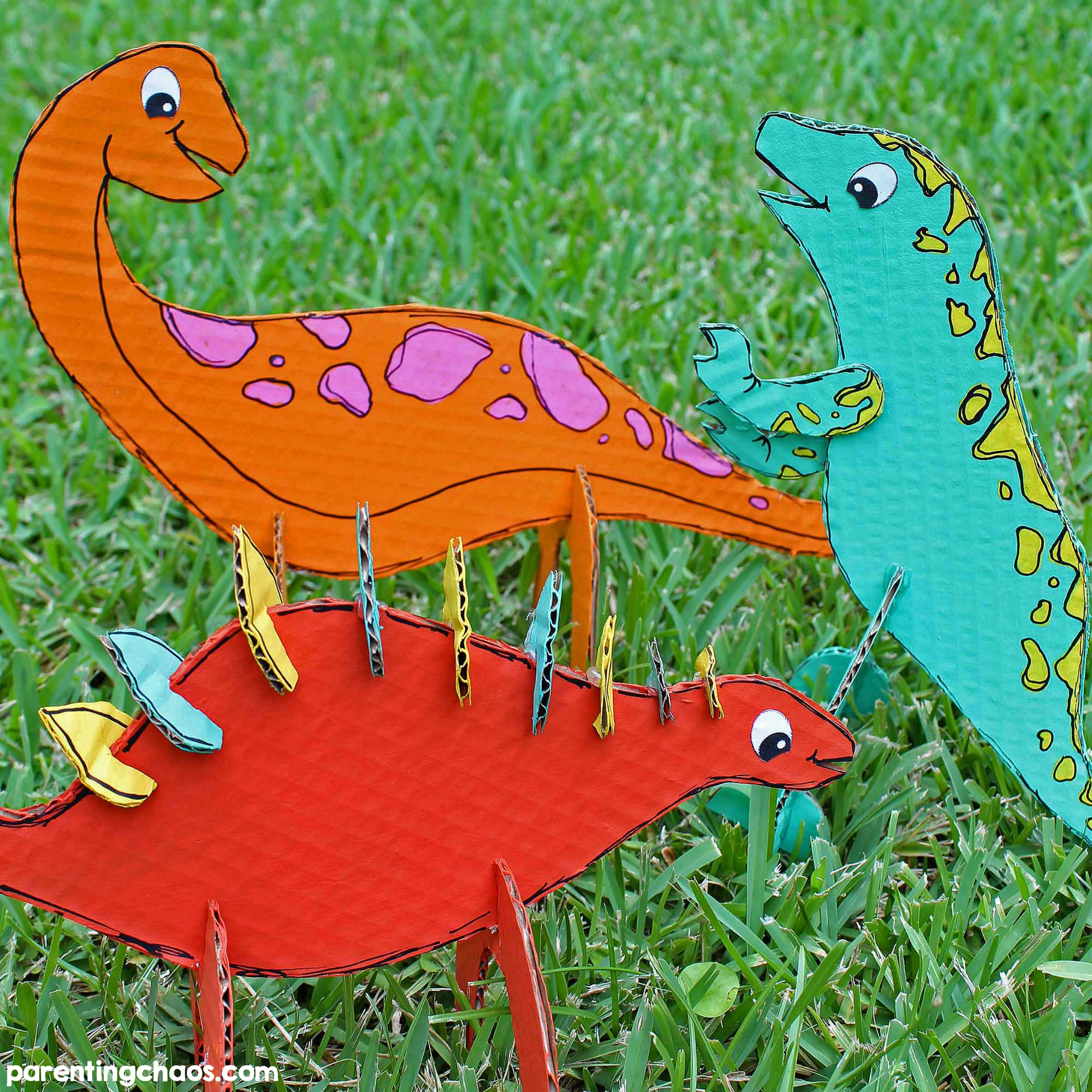 Cardboard Dinosaur Craft