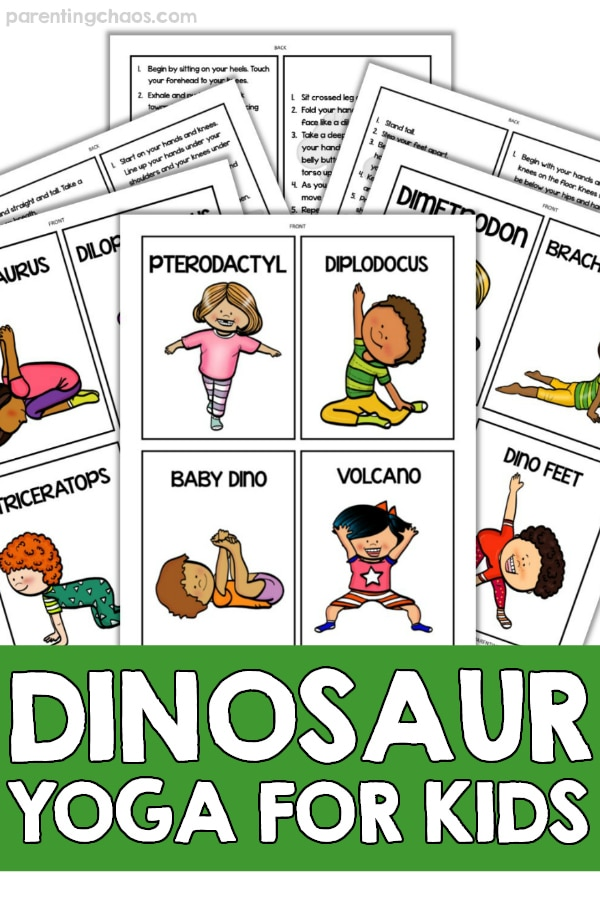 image regarding Yoga Poses for Kids Printable titled Dinosaur Yoga for Little ones ⋆ Parenting Chaos
