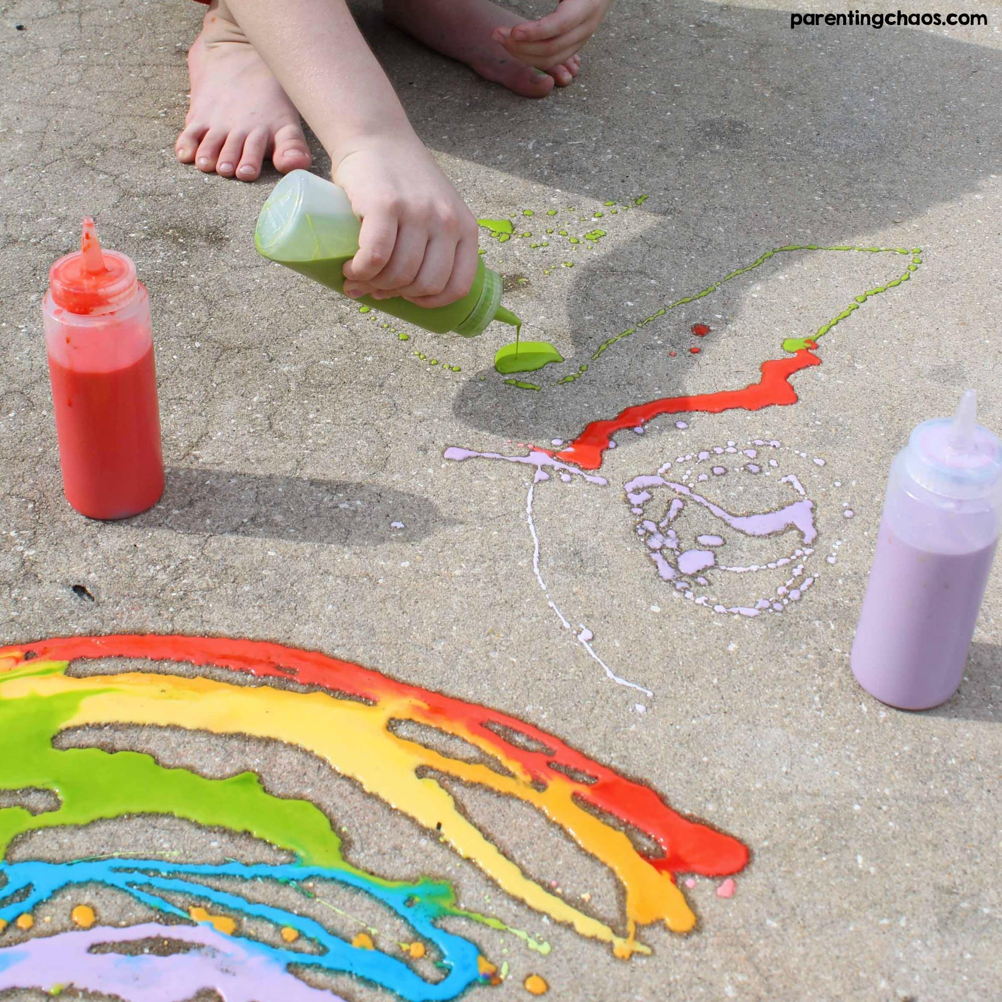DIY Washable Sidewalk Chalk Paint