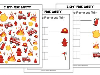 Printable Fire Safety I Spy Game for Kids