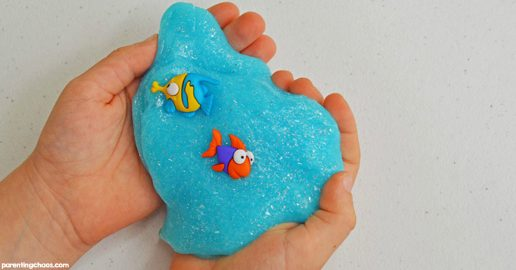 Fish Themed Baking Soda Slime