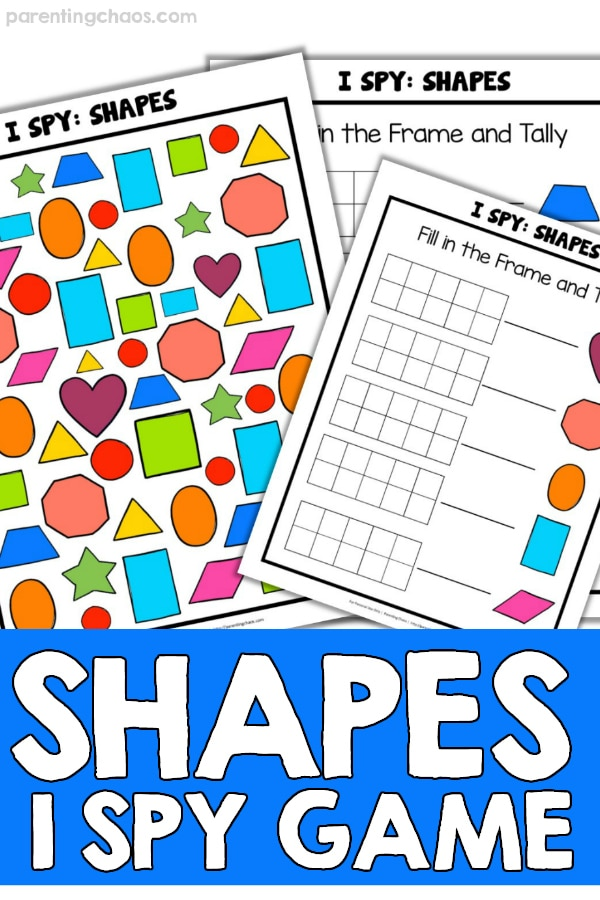 photograph regarding Printable Shapes referred to as I Spy Designs Printable Video game for Little ones ⋆ Parenting Chaos