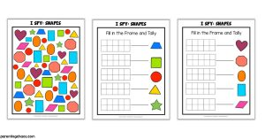 I Spy Shapes Printable Game