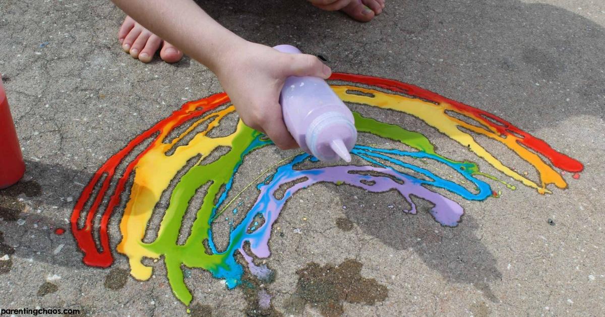 Diy Washable Sidewalk Chalk Paint Parenting Chaos