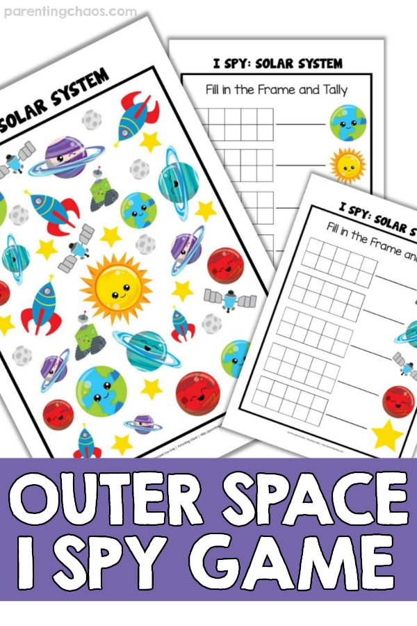 Outer Space Printable I Spy Game