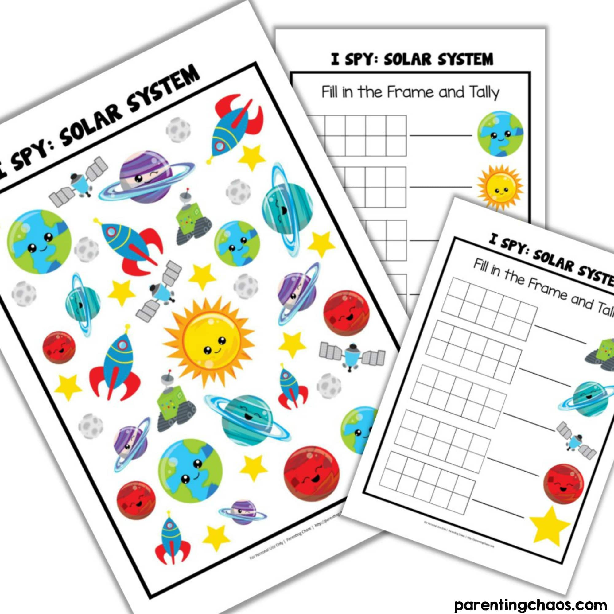 Outer Space I Spy Game for Kids